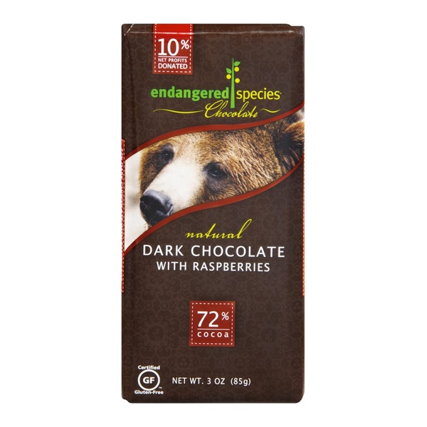 Endangered Species Raspberry Dark Chocolate Bar