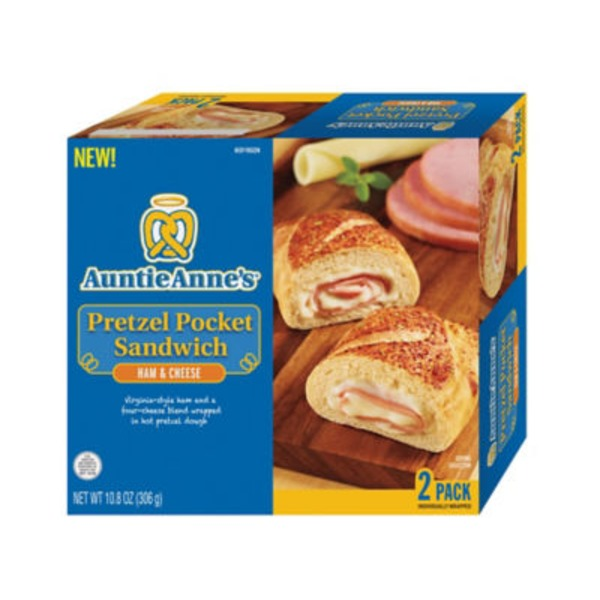 Auntie Anne's Ham and Cheese Pretzel Sandwich