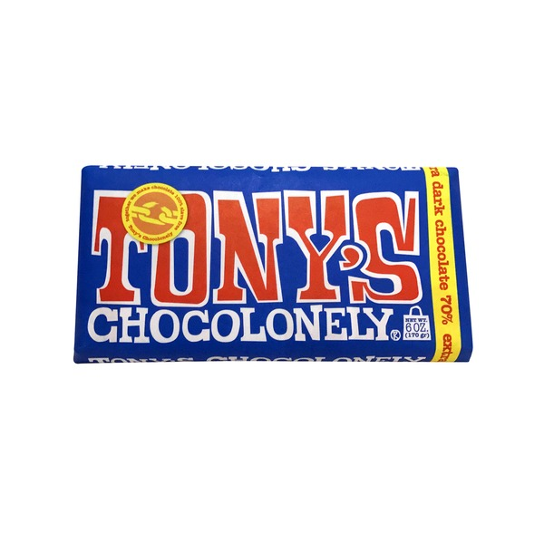 Tony's Chocolonely Extra Dark 70% Chocolate Bar