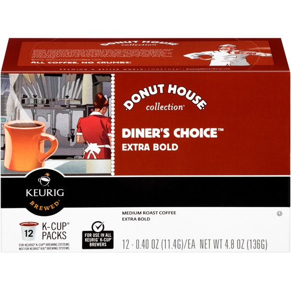 Donut House Collection Diner's Choice Extra Bold K-Cup Packs Coffee