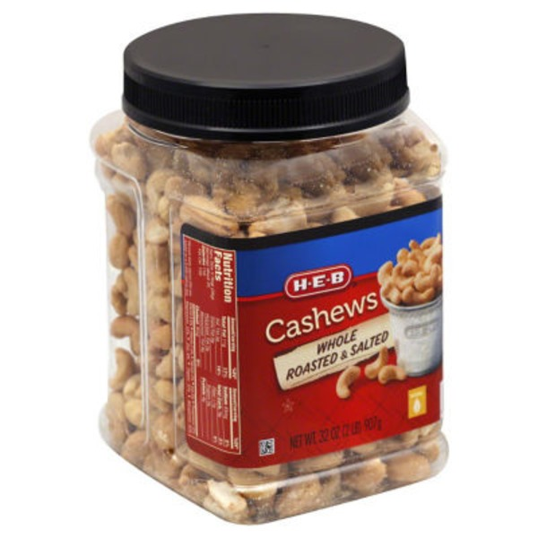 H-E-B Whole Roasted & Salted Cashews