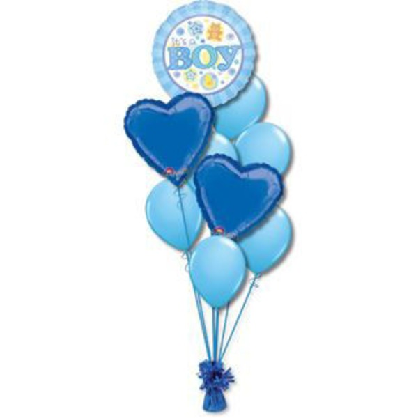 Baby Boy Medium Balloon Bouquet