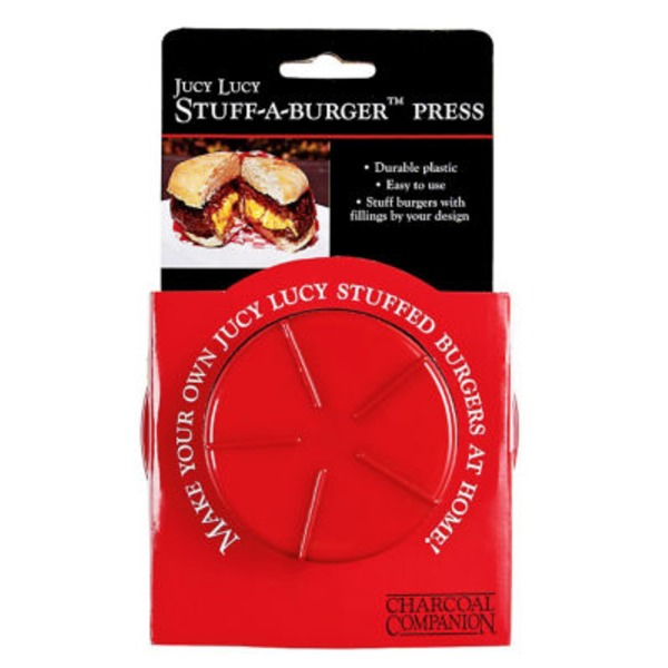 Charcoal Companion Juicy Lucy Stuff A Burger Press
