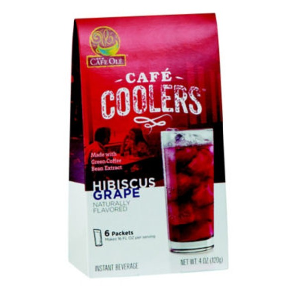 H-E-B Hibiscus Grape Cafe Cooler Beverage Packets