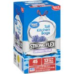 Great Value Strong Flex Tall Kitchen Drawstring Trash Bags, Lavender Fields, 13 Gallon, 45 Count