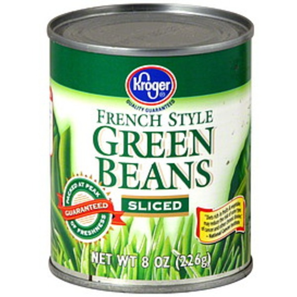 Kroger Sliced French Style Green Beans