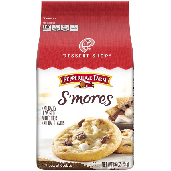Pepperidge Farm Cookies Dessert Shop S'mores Soft Dessert Cookies