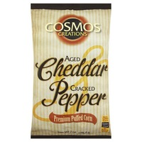 Cosmos Creations Premium Puffed Corn Aged Cheddar & Cracked Pepper
