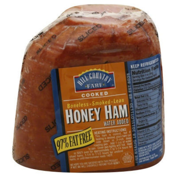 Hill Country Fare Cooked Sliced Boneless Smoked Lean Honey Ham