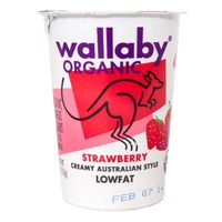 Wallaby Organic Organic Strawberry Lowfat Yogurt