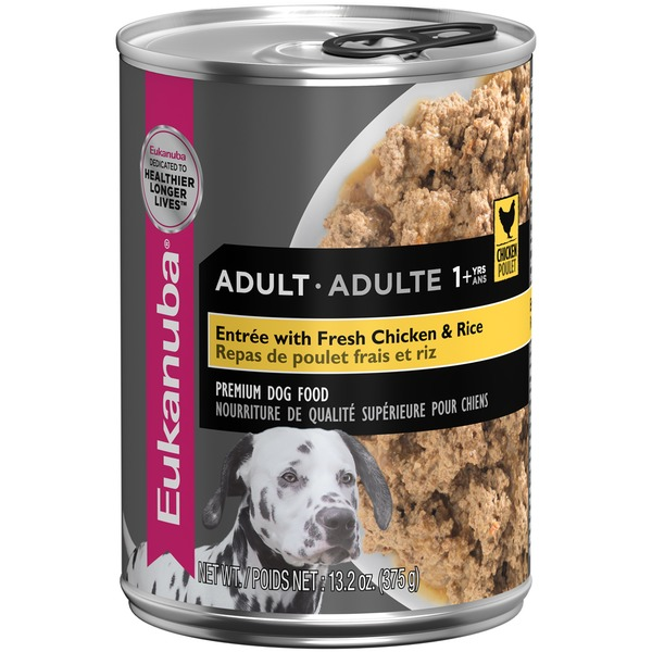 Eukanuba Entrée with Fresh Chicken & Rice Adult 1+ Yrs Dog Food