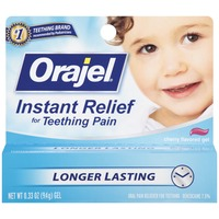Orajel For Teething Cherry Flavored Gel Baby Oral Pain Reliever