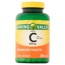 Spring Valley Vitamin C Tablets, 500 mg, 250 Ct