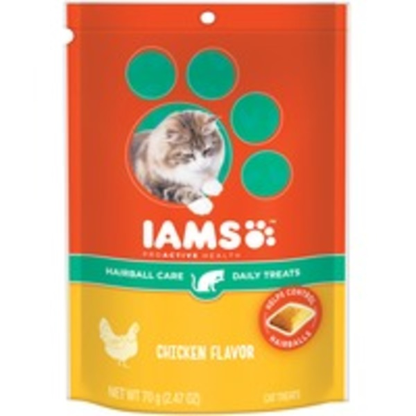 Iams ProActive Health Hairball Care Chicken Flavor Cat Treats