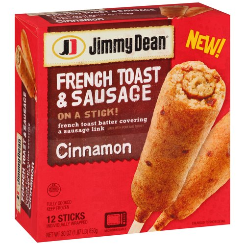 Jimmy Dean Cinnamon French Toast & Sausage on a Stick!
