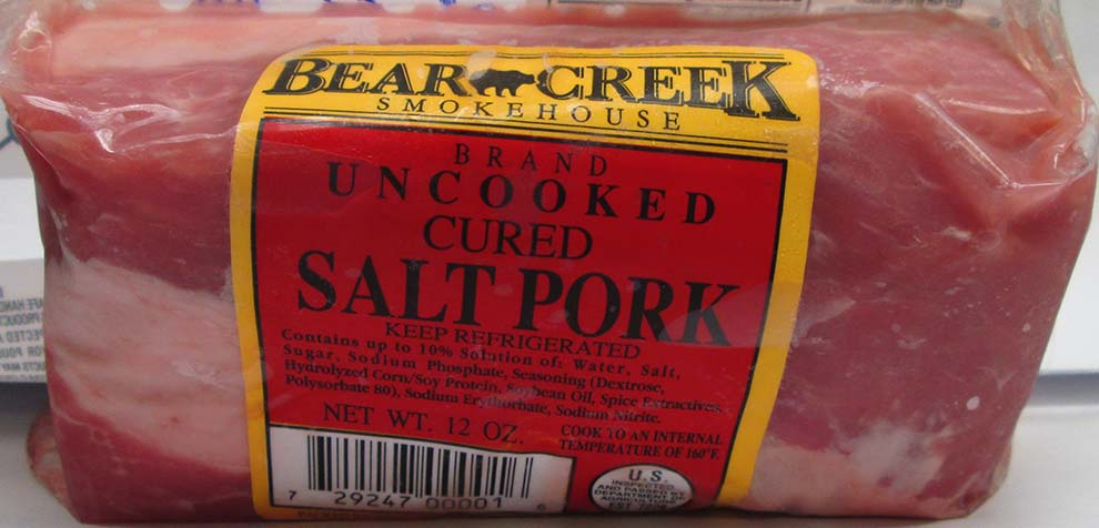Bear Creek Chunk Salt Pork