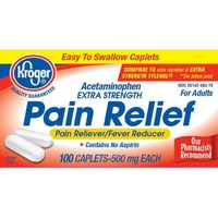 Kroger Pain Relief Acetaminophen 500 Mg Caplets