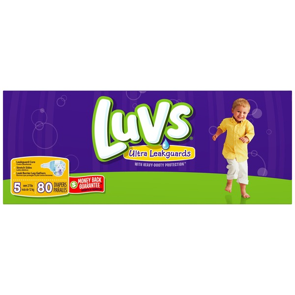 Luvs Ultra Leakguards Diapers Size 5 74 count  Diapers