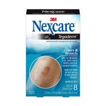 Nexcare Tegaderm Waterproof Transparent Dressing, Flexible and Breathable, Protects Abrasions, Cuts, Minor Burns, Blisters, Post-Surgical Incisions, 2-3/8-Inches X 2-3/4-Inches, 8 Count