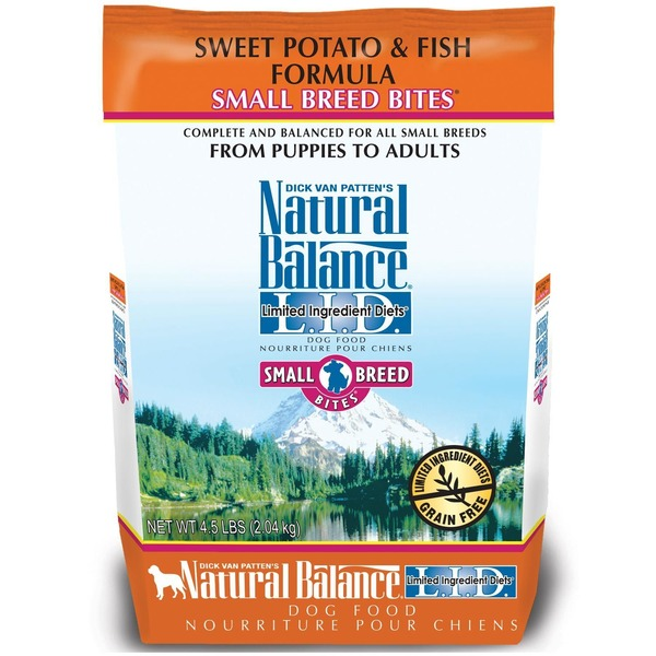 Natural Balance Sweet Potato & Fish Formula Small Breed Bites From Puppies to Adults Dog Food