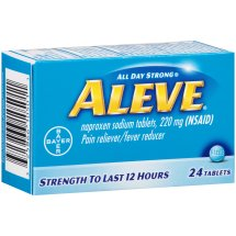 Aleve Tablet, Pain Reliever/Fever Reducer, 24ct