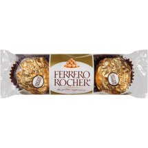Ferrero Rocher Fine Hazelnut Chocolates, 3ct