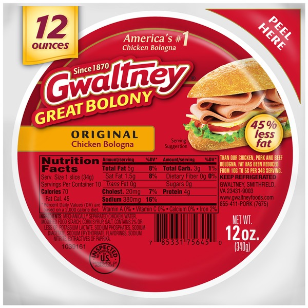 Gwaltney Original Chicken Bologna