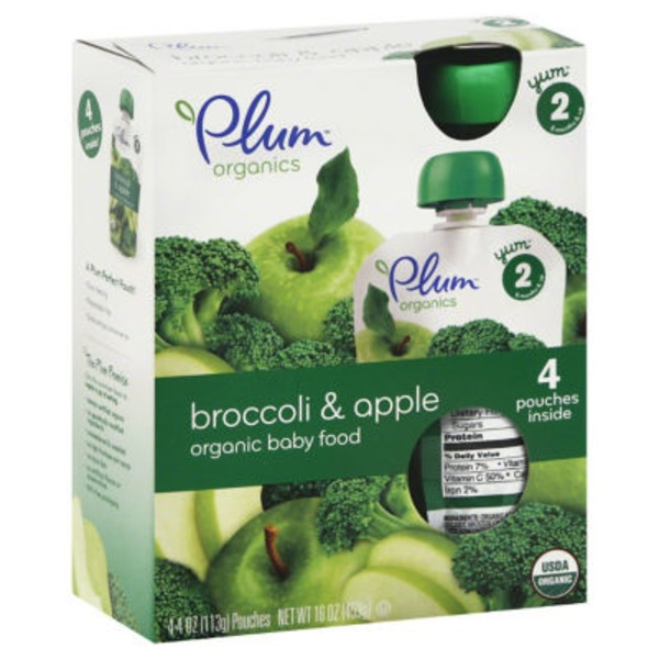 Plum Baby Stage 2 Apple & Broccoli Baby Food