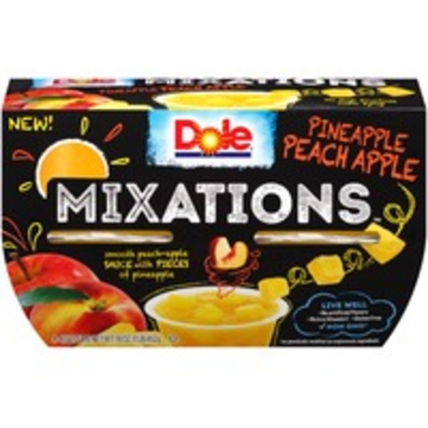 Dole Mixations Pineapple Peach Apple Fruit Cups