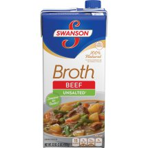 Swanson® 100% Natural Unsalted Beef Broth, 32 oz., 32.0 OZ