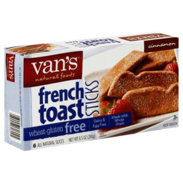 Van's Natural Foods Wheat & Gluten Free French Toast Sticks Cinnamon  - 6 CT
