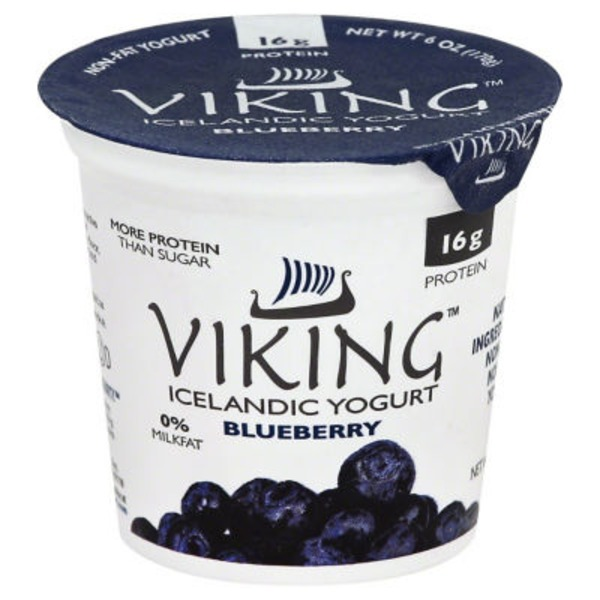 Viking Non-Fat Blueberry Icelandic Yogurt