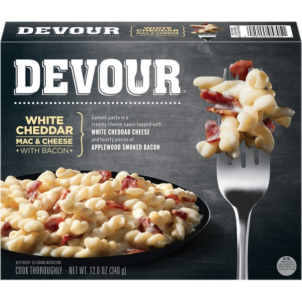 Devour White Cheddar Mac & Cheese with Bacon Frozen Entree