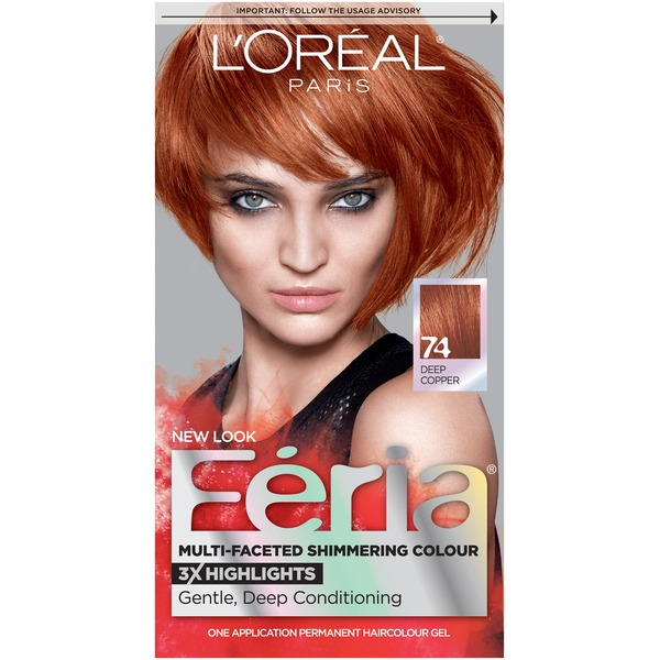Feria Multi-Faceted Shimmering Colour 74 Deep Copper Hair Color
