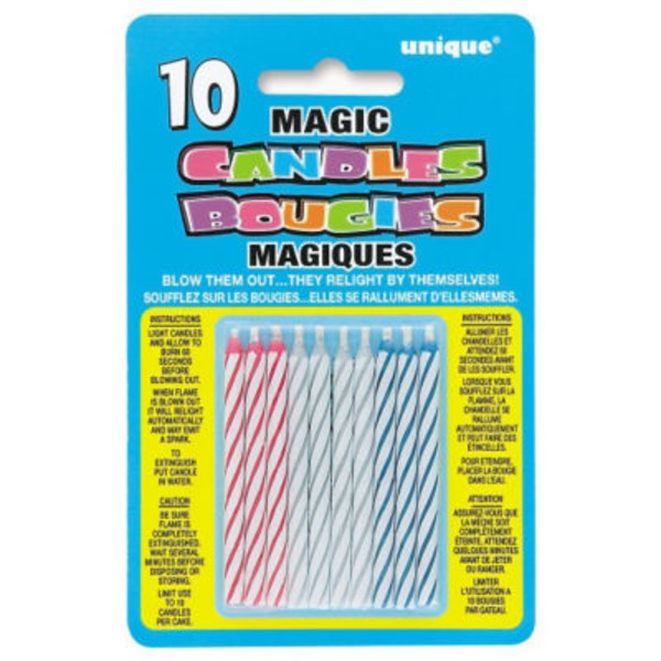 Unique Magic Candles - 10 CT