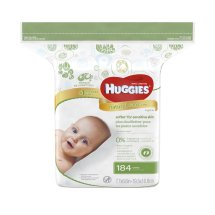 Huggies Natural Care Baby Wipes, Refill, Unscented (184 count)