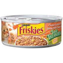 Purina Friskies Tasty Treasures Pate Cat Food Chicken and Ocean Fish, 5.5 oz