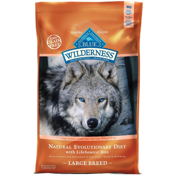 Blue Buffalo Wilderness High Protein Grain Free Natural Evolutionary Diet Large Breed Natural Food for Dogs