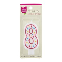 Betty Crocker Numeral 8 Birthday Candle
