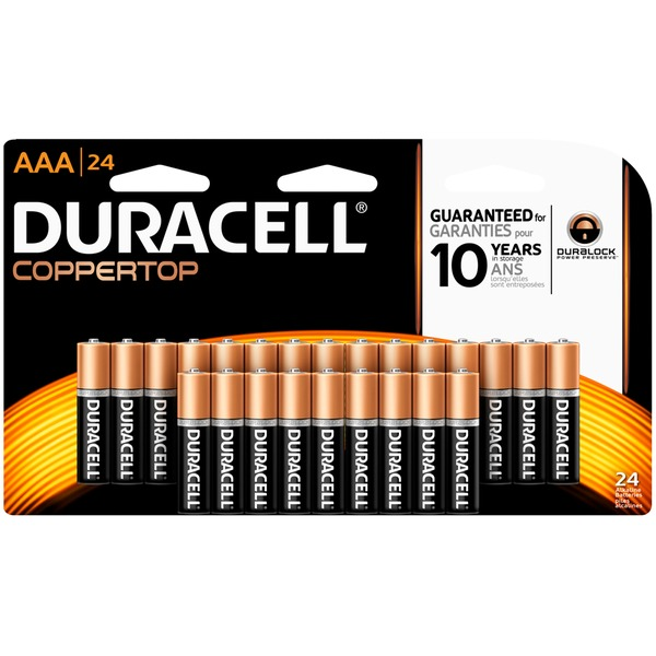 Duracell Coppertop AAA Alkaline Batteries 24 count Primary Major Cells