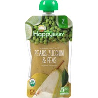 Happy Baby/Family Pears, Zucchini & Peas Organic Baby Food