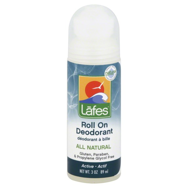 Lafes Deodorant, Roll On, Active