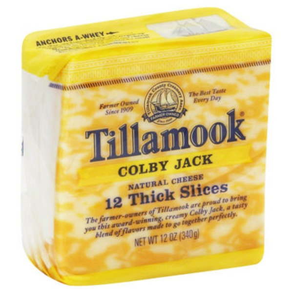 Tillamook Colby Jack Thick Slices Cheese