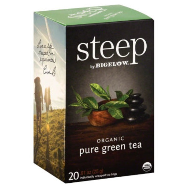 Bigelow Steep Organic Pure Green Tea