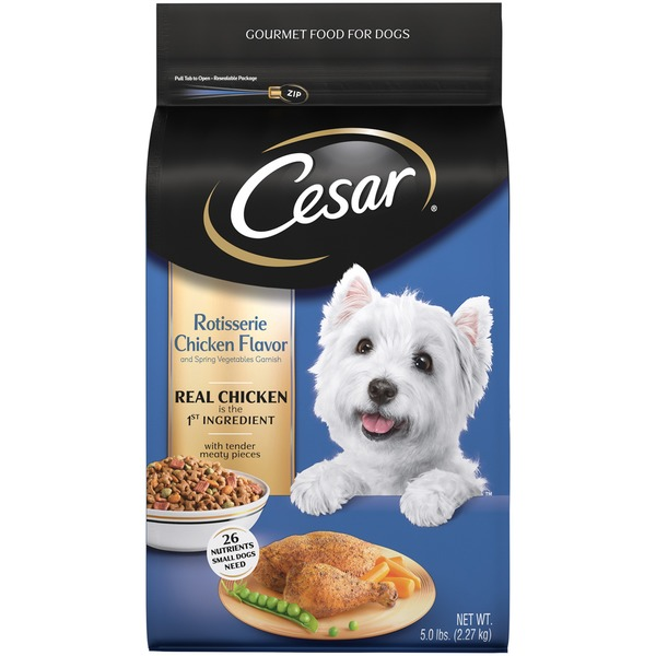 Cesar Rotisserie Chicken with Spring Vegetables Garnish Dog Food