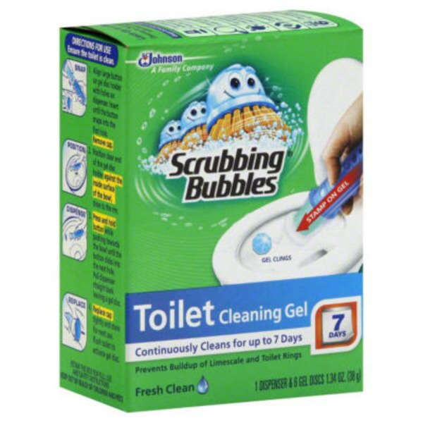 Scrubbing Bubbles Glade Rainshower Toilet Cleaning Gel