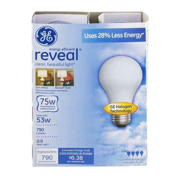 GE Reveal 75W Bulb - 2 CT