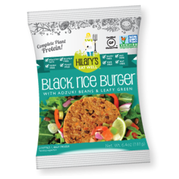 Hilary's Eat Well Black Rice Burger