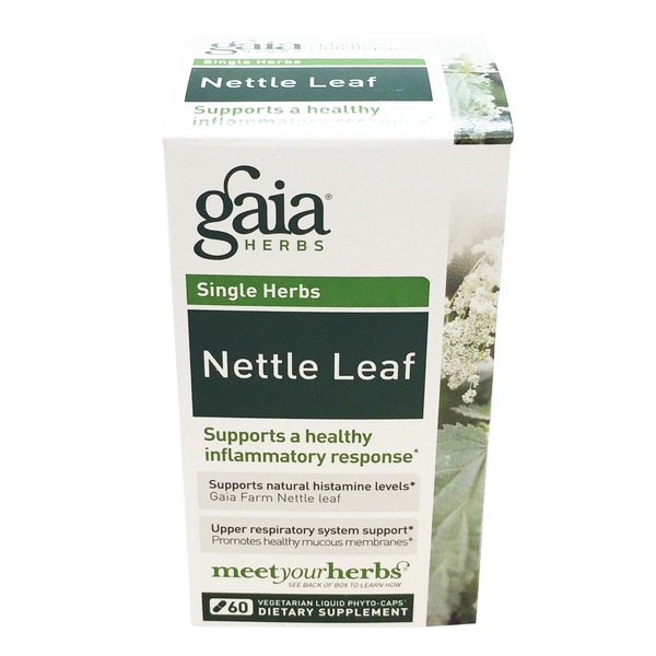 Gaia Herbs Nettle Leaf Vegetarian Dietary Supplement Capsules