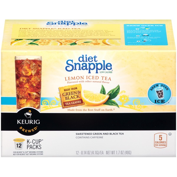 Snapple Diet Lemon Iced K-Cup Packs Tea